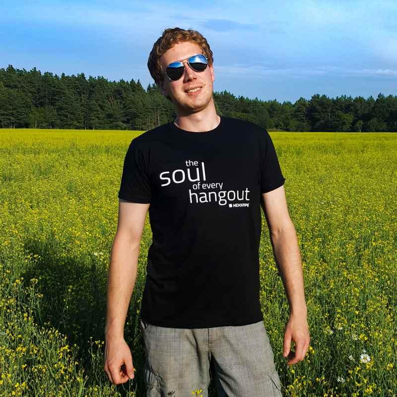 Hookah brand merch - black T-shirt for men - lifestyle fan gear photo