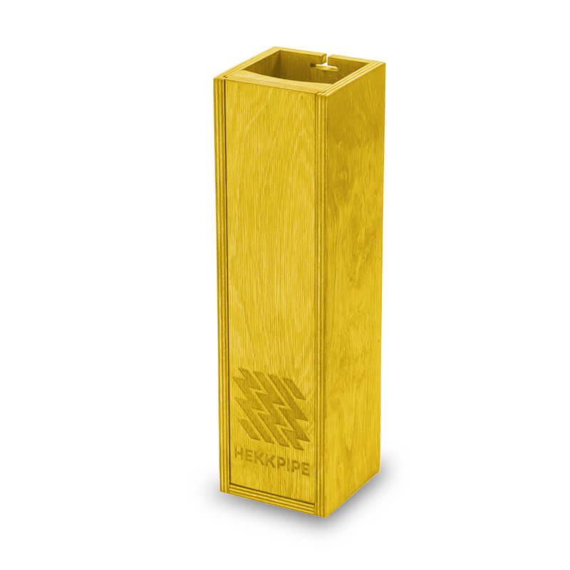 Vesipiibu karp kollane puidust toode