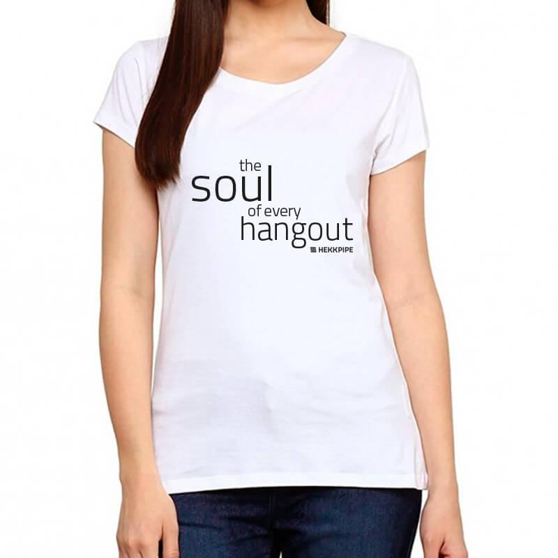Hookah fan gear - white t-shirt for women from Hekkpipe