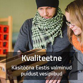 Käsitööna Eestis valmistatud puidust vesipiibud on kvaliteetsed