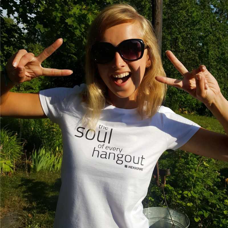 White T-shirt for women - lifestyle fan gear photo