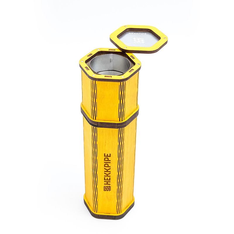 Yellow hookah - Hekkpipe Hexagon - add your own design on it - custom made outdoor hookah which is built last