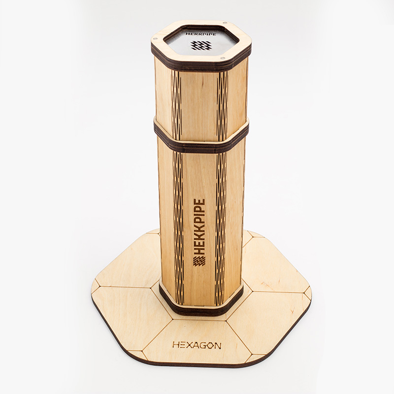 Natural wooden hookah Hekkpipe Hexagon - best shisha to go on the market