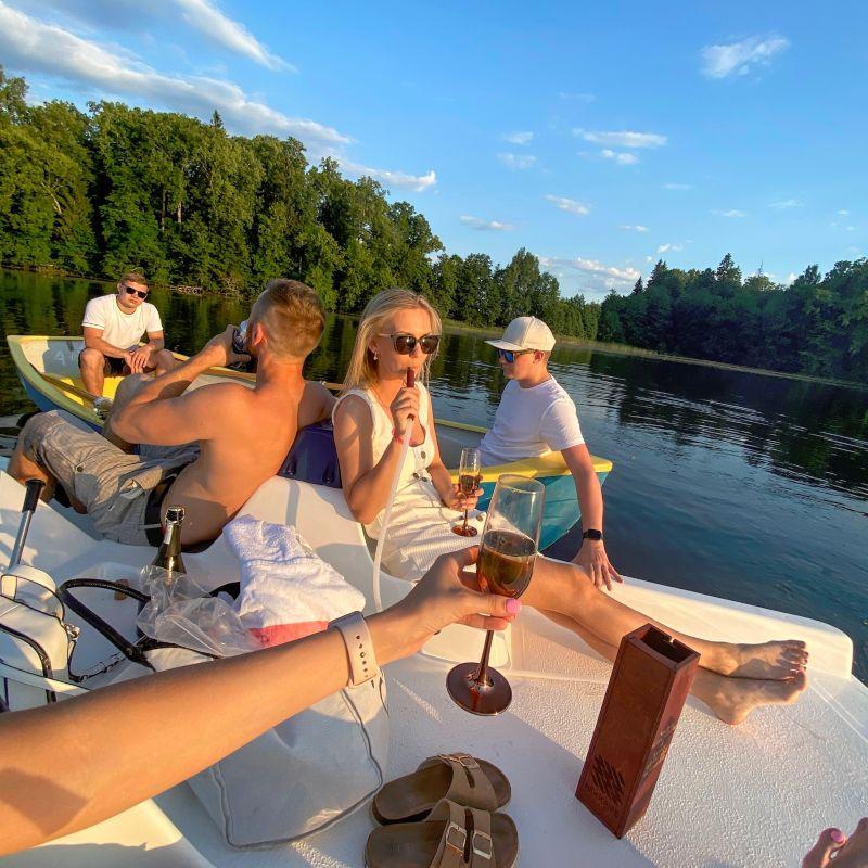 Hanging around with Friends on boat while enjoying hookah- kristiina.mottus