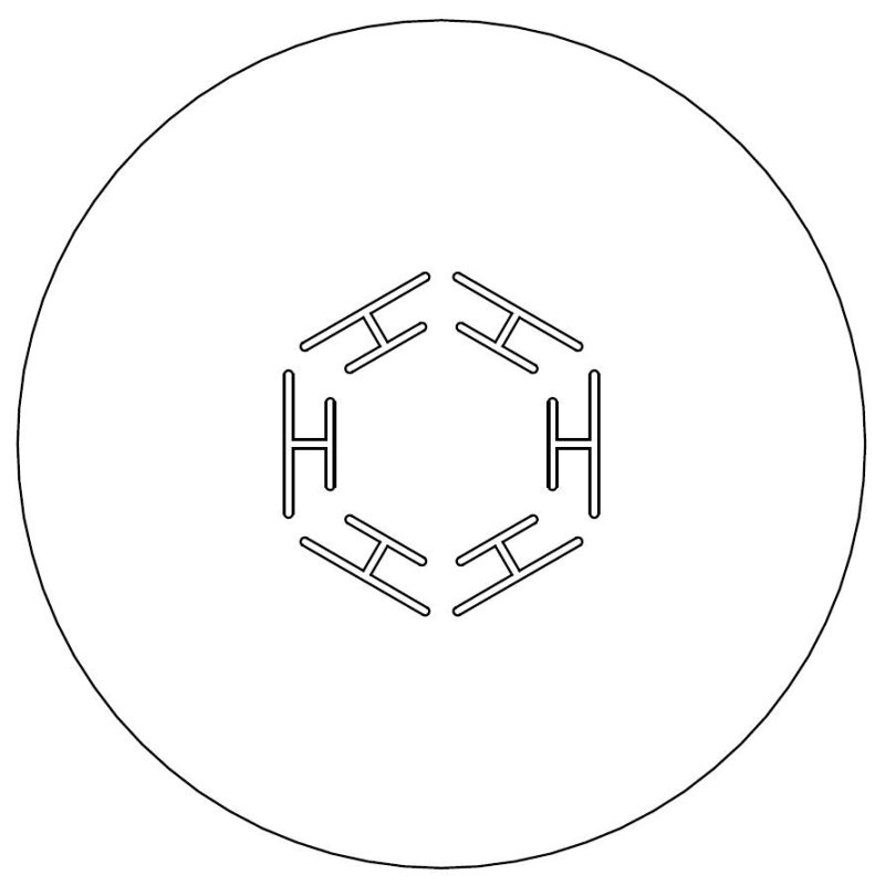 Hexagon Heat Management plate