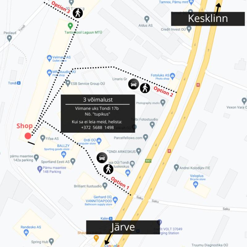 Hekkpipe asukoht Google kaardil - Tondi 17b